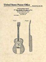 Official Buck Owens Acoustic Guitar US Patent Art Print - Vintage Antique - 453