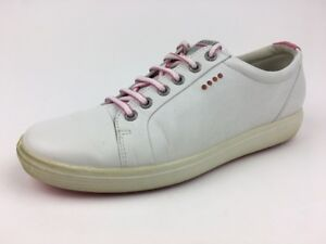 Ecco Casual Hybrid Golf Shoes - Women's Extra Width Size EUR 41 White/Pink  523