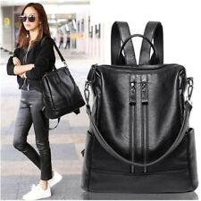 Damen Leder Rucksack Wasserabstoßend Schultertasche Studenten Fashion Handtasche