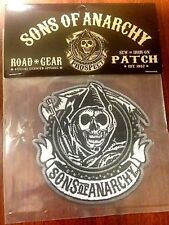 Authentic Sons Of Anarchy Circle Reaper Logo Soa Samcro Sew On / Glue On Patch