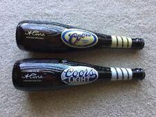 2 Coors Baseball Bat Bottles 18oz.  500 Home Run Club Banquet Beer & Coors Light
