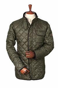 Mens Laksen Beauford  Quilted Jacket - green - all sizes - new