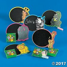 12 Zoo Jungle Animal Magnetic Chalkboard Sets Chalk Kids Birthday Party Favors