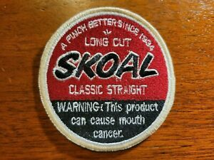 """SKOAL LONG CUT CHEWING TOBACCO IRON ON PATCHES  3""""X3"""""""