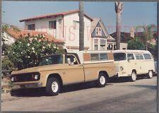 Vintage Photo 1969 Dodge Pickup Truck & Volkswagen VW Camper 758465