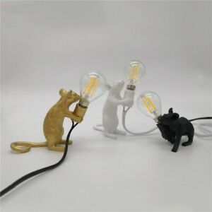 Resin Mouse Desk Light Small Rat Table Lamp Nordic Lighting Fixtures Home Decor