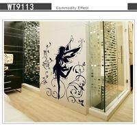 Wandtattoo Wandaufkleber Deko Angel  Blumenranke Wohnzimmer sticker #9113