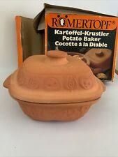 More details for vintage romertopf terracotta oven potato baker casserole bay keramik west german