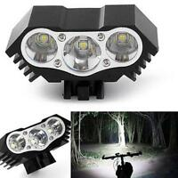 10000 Lumen 3 x CREE XM-L T6 LED Bicycle Bike HeadLight Head Light Lamp Torch