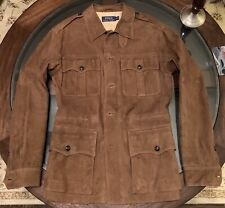 Ralph Lauren Gent's Size Medium Safari 100% Leather Jacket Snuff Brown Color