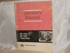 Massey Ferguson MF 1500 1800 Tractor Operators Owners Manual Original Good Cond.