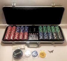 Full House Poker Club 500 Piece, 12g Poker Chip Set Tournament Pro Series Chips