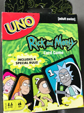 Rick and Morty UNO Card Game NEW Sealed Special Rule Mr MeeSeeks Mattel R & M