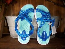 AIR WALK GIRLS SANDALS SIZE 1 COLOR AQUA BLUE KIDS CASUAL SUMMER SHOES SCHOOL