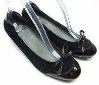 Stuart Weitzman Black Suede Leather Cap Toe Dress Pumps Heels 7M 7 MSRP $350
