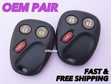 OEM PAIR GM CHEVROLET GMC TRUCK SUV keyless entry remote fob transmitter #1 & #2