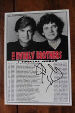 More details for the everly brothers hand signed tour dates flyer rare autographed by phil & don