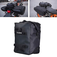10L Motorcycle Scooter Tail Bag Storage Backpack Shoulder Bag Black Waterproof