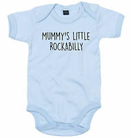 ROCKABILLY BODY SUIT PERSONALISED MUMMY'S LITTLE BABY GROW NEWBORN GIFT