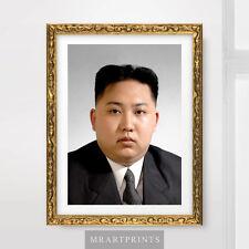 KIM JONG UN NORTH KOREA PORTRAIT Art Print Poster Korean Leader Wall Picture