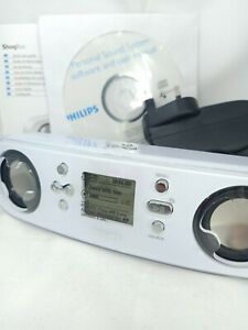 Philips GoGear ShoqBox PSS120/05 MP3 Player Personal Stereo Radio with Speakers
