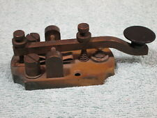 🔥ANTIQUE🔥OLD BRASS MORSE CODE STRAIGHT TELEGRAPH KEY FOR HAM RADIO HF CW KEYER