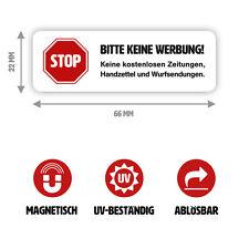 """Magnet-Schild """"Bitte keine Werbung"""" für Ihren Briefkasten (kein Aufkleber)"""