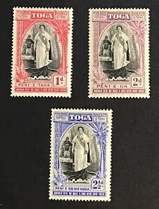 Tonga SG# 71 - 73 - Mint Light Hinged - (W9)