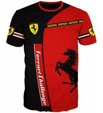 T Shirt New Scuderia Ferrari Challenge Formula 1 Racing Official 3D Tee Red Sale