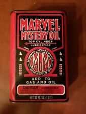Vintage Marvel Mystery  32 ounce  Empty Oil Can