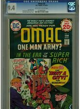 OMAC #2 CGC 9.4 NEAR MINT DC COMICS 1974 OFF WHITE TO WHITE PAGES UN-RESTORED