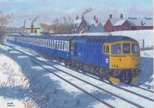 Classe 33 Locomotive diesel Gillingham moteur Railway Train de Noël de Noël Carte