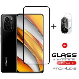 For Xiaomi POCO F3 X3 Pro M3 Full Cover Tempered Glass + Camera Lens Protector