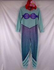 Disney Ariel Little Mermaid Womens Pajamas Hooded Costume Sz S Sleepwear CB48W