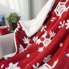 "Christmas Gift Red Snowflake Throw Blanket-Super Micro Plush!--50"" x 60"""