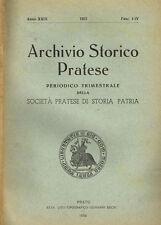 ARCHIVIO STORICO PRATESE ( ANNO XXIX)