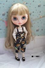 Blythe Doll Outfit Animal print overalls (BLACK)