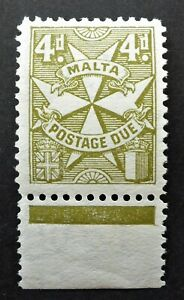 MALTA #J17 VERY FINE NH** POSTAGE DUE   CAN. SHIP $1.99 COMBINED SHIPPING