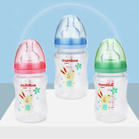180ML Anti-Colic Newborn Infant Baby Feeding Bottles BPA-Free