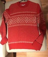 Red Ski Sweater