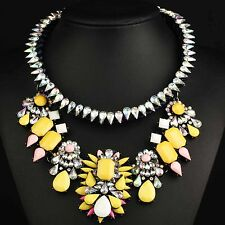 colorful collar Chain Necklace 691 pendant Crystal Mix Statement charm chunky