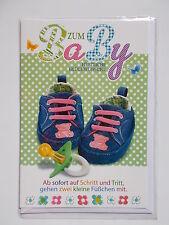 Zum Baby herzliche Glückwünsche, Karte Geburt mit Spruch, Glückwunsch, neutral
