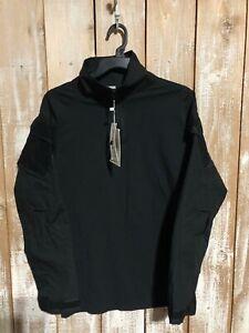Men's Grizzly Black Tactical Quater-Zip Pullover Jacket/Body Suit Sz Large