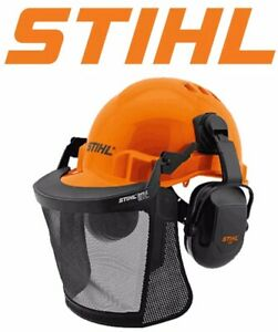 A Genuine STIHL FUNCTION  safety Helmet Complete with Earmuffs & Visor