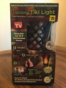 Dancing Tiki Light As Seen On TV Solar Outdoor Landscape Decor Pool Torch Flame