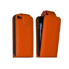 Housse étui coque pour Apple Iphone 4 couleur orange + film protecteur ecran