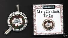 Longaberger Pottery Tie On Christmas Wreath 1996 IOB US