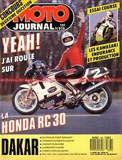 MOTO JOURNAL  828 HONDA RVF 750 RC 30 BOL d'OR KAWASAKI GPX 1000 RX PARIS DAKAR
