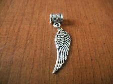 pendentif argenté aile d'ange 30x10