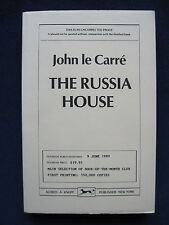 JOHN LE CARRE - THE RUSSIA HOUSE Uncorrected Proof Copy TRUE FIRST PRINTING